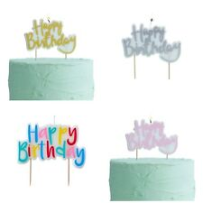 Ginger Ray Happy Birthday Candle, Party Cake Topper - Silver Gold Pink Rainbow