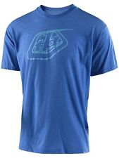 Camiseta Troy Lee Designs Logo Royal Gris Azul