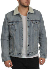 Levis Uomo Giacca in jeans TIPO 3 Sherpa CAMIONISTA 16365-0049 Fine Line Sherpa