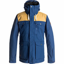 Quiksilver Raft Mens Jacket Snowboard - Estate Blue All Sizes