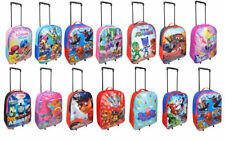NEW  Boys Girls Character Wheeled Trolley Suitcase & Hand Luggage Bag