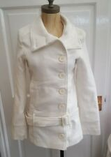 B.Angel Ladies White Belted Winter Coat - new with tags -