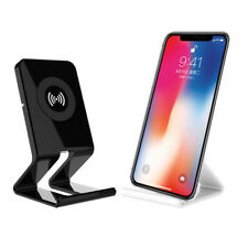 Hot Wireless Qi Charger Holder Desk Top Stand Mount Pad LOT For iPhone X 8Plus A