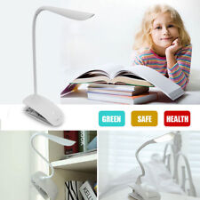 LED Flexible USB Reading Study Light Clip-on Beside Bed Table Desk Lamp UK Stock