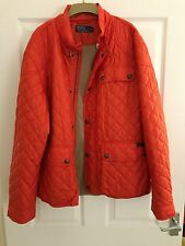 RALPH LAUREN ORANGE CADWELL QUILTED BOMBER JACKET SIZE XL NEW RRP £300