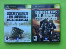 Brothers In Arms Road To Hill 30 & Earned In Blood Xbox PAL Games Selection List
