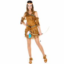 Costume Donna Indiana Sexy Vestito Authentic Wild Far West Carnevale Halloween