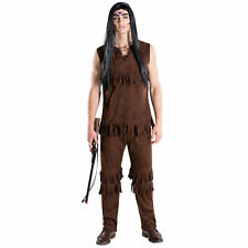 Costume da Guerriero Indiano per Adulto Uomo Nativo Far West Carnevale Halloween