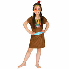 Costume da Ragazza Indiana Piccolo Bambina Far West Nativo Carnevale Halloween
