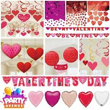 Valentines Day Heart Love Romance Party Balloons Banners Decorations Confetti