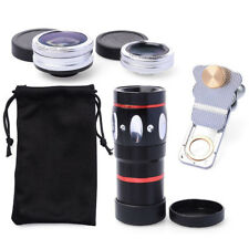 4-in-1 Clip-on 10X Telescope+Fisheye+Wide-Angle+Marco Lens Kit for Samsung