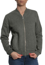 Superdry Cremallera Women Micro Jersey LUXE Bomber caqui Grindle