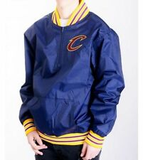 MITCHELL NESS Cleveland Cavaliers Zip Giacca in nylon blu scuro