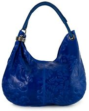 LiaTalia Large Real Italian Suede Leather Single Strap Hobo Slouch Bag - Fiona