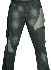 Mens Ripped Jeans Grey  Distressed Designer Denim Trousers Straight  30 32 34 36