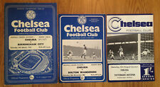CHELSEA HOME PROGRAMMES 1961 to 2009