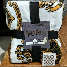 HARRY POTTER THROW Gryffindor Fleece Blanket Hogwarts Hufflepuff Ravenclaw Bed