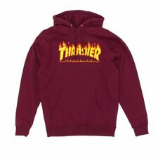 Thrasher Flame Logo Hooded Sweatshirt - Maroon