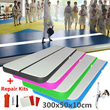 300x50x10cm Gonflable Tapis Gymnastique Air Track Floor Home Tumbling Track Mat