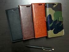 ★ Leather Wallet Flip ★ Cover Back Case for iVoomi iV505