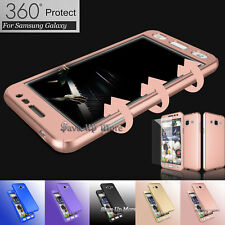 For Samsung Galaxy 360° Protective Case Cover+Tempered Glass Screen P