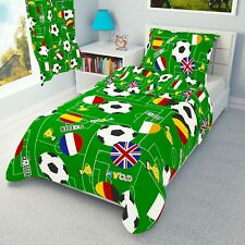 FOOTBALL Boys Bedding Set Duvet Covers for Cot/Cot bed/Toddler/Junior