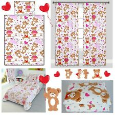 PINK HEART TEDDIES Baby Bedding Set Duvet Covers for Cot/Cot bed/Toddler/Junior