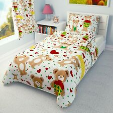 RED HEARTS TEDDIES Baby Bedding Set Duvet Covers for Cot/Cot bed/Toddler/Junior