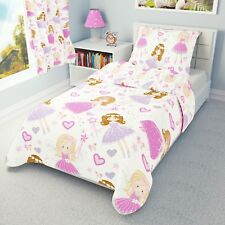 PINK FAIRY Girls Baby Bedding Set Duvet Covers for Cot/Cot bed/Toddler/Junior