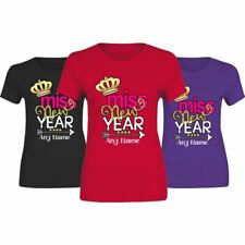 Miss New Year Any Name Print Top TShirt Ladies Womens Short Sleeve Party Tee Lot