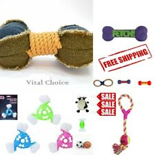 Assorted Dog Puppy Pet Toy Bone Soft Plush Squeaky Crinkle Tennis Balls Frisbee