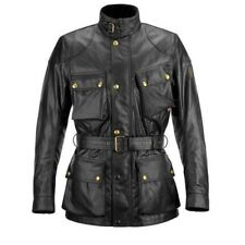 Belstaff Tourist Trophy Wax Motorcycle Jacket - Black - All Sizes