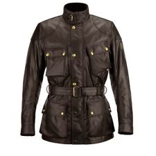 Belstaff Tourist Trophy Wax Motorcycle Jacket - Brown - All Sizes