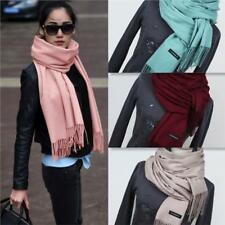 Women Scarf Solid Tassel Long Cashmere Female Scarves Winter Big Shawl Pashmina