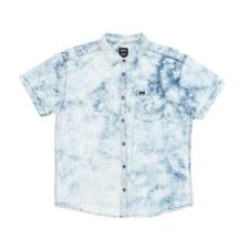 RVCA Acid Rain Short Sleeved Shirt - Indigo Bleach