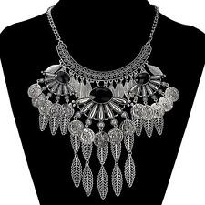 Bohemian Maxi Carving Leaves Tassel Necklace