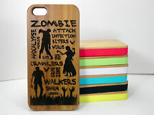 Zombie Attack Case for iPhone 5C Bamboo Wood Phone Cover Apocolypse De