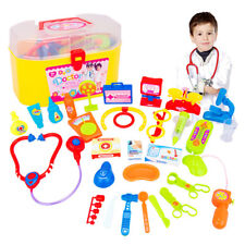 US Kids Baby Doctor Medical Play Carry Set Case Education Role Play Toy Kit Gift