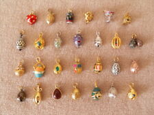 Joan Rivers Queen of Romania Necklage Eggs & Charms + Extender Chains