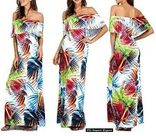 Vestito Lungo Donna Fantasia Floreale Woman Maxi Dress Floral Prints 110258B