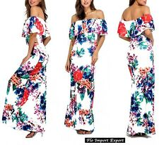 Vestito Lungo Donna Fantasia Floreale Woman Maxi Dress Floral Print - 110265