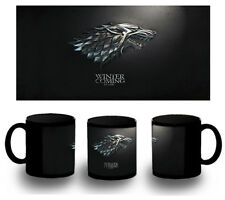 TASSE GAME OF THRONES LOGO CASA STARK NOIR BLACK MUG tazza FR