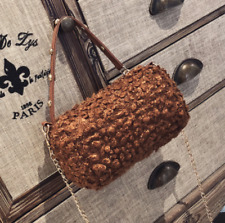 Korean Style Cylindrical Fluffy Crossbody Sling Handbag