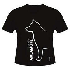 Alaskan Malamute Dog Breed T-Shirt, V Neck Style, Ladies & Men's Sizes