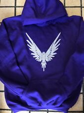 LOGAN PAUL MAVERICK HOODIE PURPLE AND SILVER SPARKLE MAVERICK LOGANG JAKE PAUL