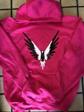 LOGAN PAUL MAVERICK HOODIE PINK WITH BLACK AND WHITE MAVERICK LOGANG JAKE PAUL