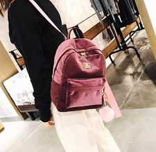 Korean Style 2018 Velvet Backpack Bag