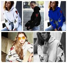 Ladies Hooded Sweater Autumn Winter Sweatshirts Pullover Long Sleeve Coat Tops