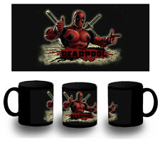tazza NERA DEADPOOL HERO LOCO GIOCHERELLONA BLACK MUG tazza tasse ES