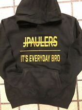 JAKE PAUL HOODIE JPAULERS IT'S EVERYDAY BRO BLACK WITH GOLD GLITTER